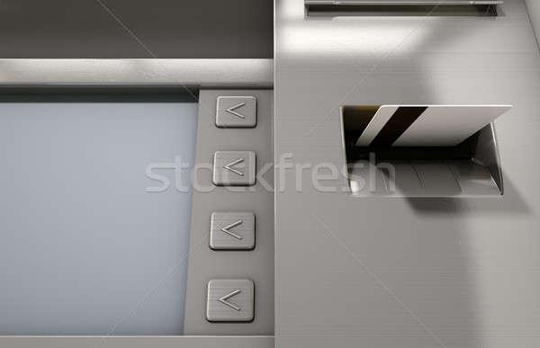 Atm Facade And Card Insert Stock photo © albund