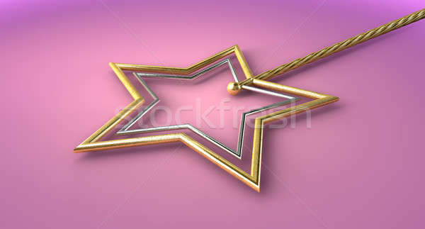 Gold And Silver Magic Wand Stock photo © albund