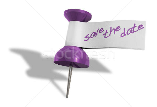 Save The Date Thumbtack Stock photo © albund