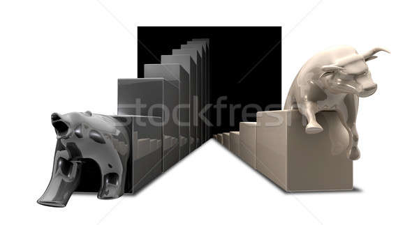 Bull And Bear Economic Trends Stock photo © albund