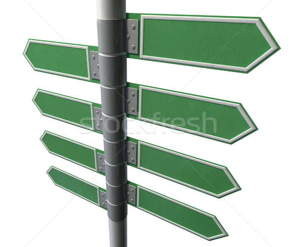 Left Right Blank Direction Sign Collection Stock photo © albund
