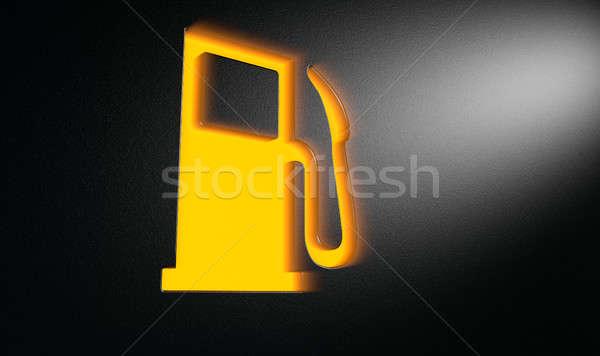 Orange Petrol Indicator Dash Light Stock photo © albund