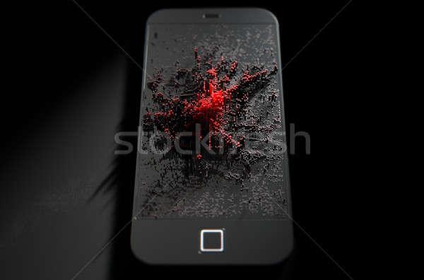 Zakażenie 3d nowoczesne ekranu Zdjęcia stock © albund