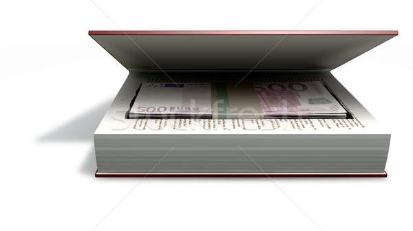 Concealed Euros In A Book Front Stock photo © albund