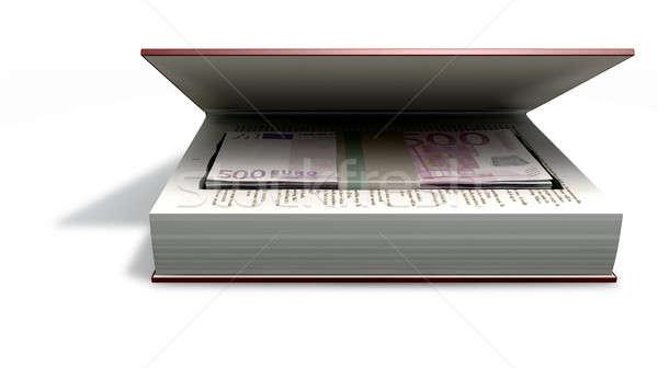 евро книга красный Сток-фото © albund