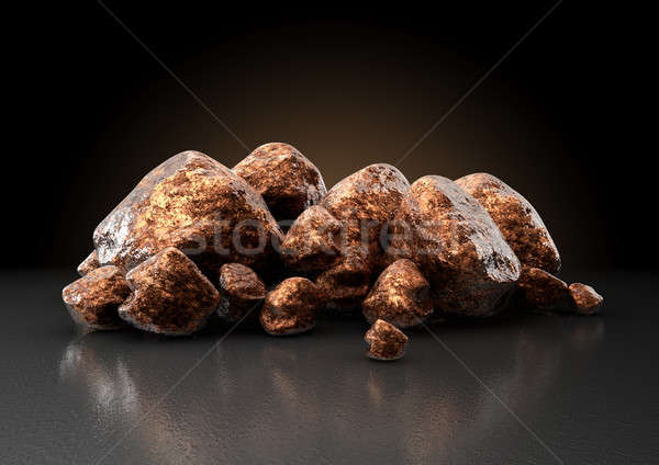 Copper Nugget Collection Stock photo © albund