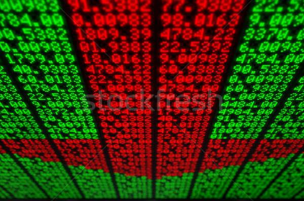 株式市場 デジタル ボード セクション インジケータ 赤 ストックフォト © albund