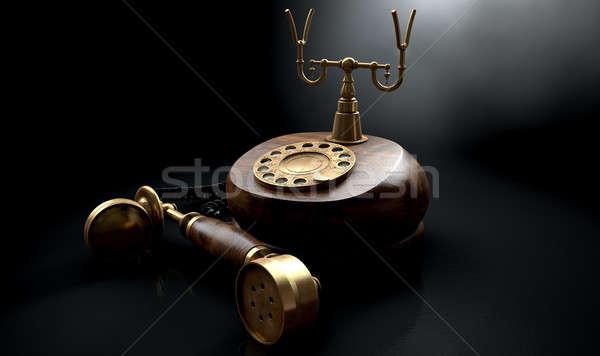 Vintage Telephone Dark Off The Hook Stock photo © albund