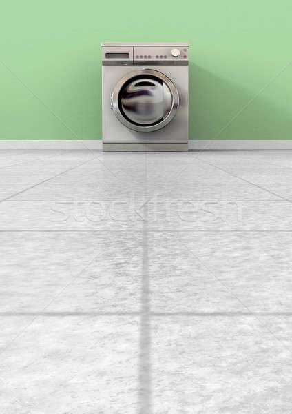 çamaşır makinesi boş görmek düzenli Metal Stok fotoğraf © albund