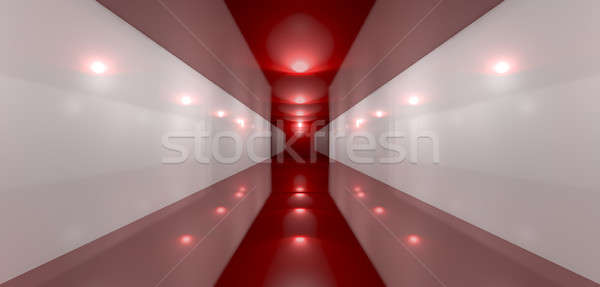Glossy Red Room Perspective Front Stock photo © albund