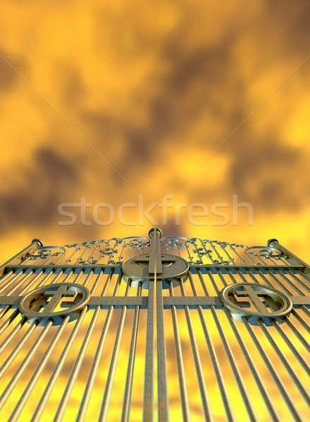 Heavens Golden Gates And Yellow Sky Stock photo © albund
