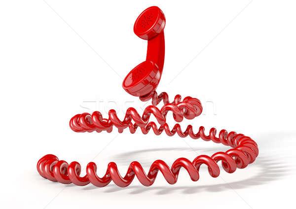 шнура Vintage телефон подобно Сток-фото © albund