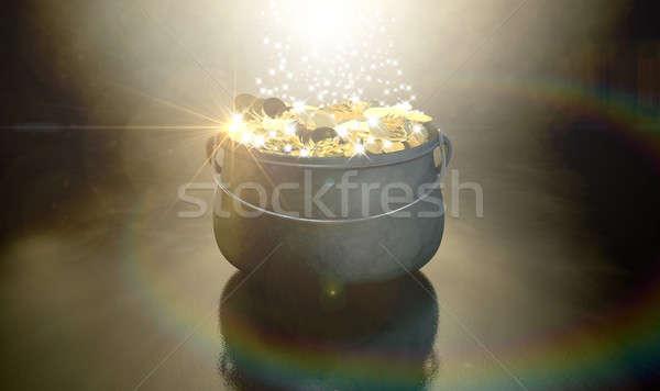 Pot Of Gold Stock photo © albund