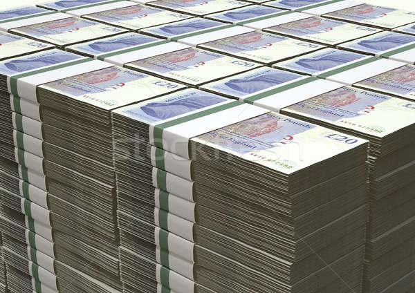 British Pound Sterling Notes Bundles Stack Stock photo © albund