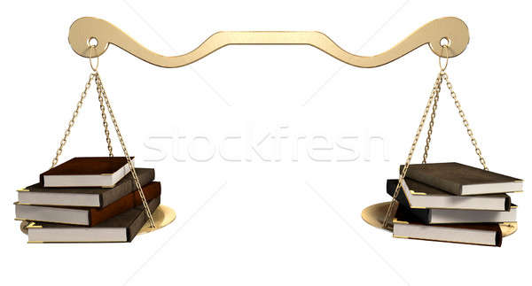 Balancing Books Scale Stock photo © albund