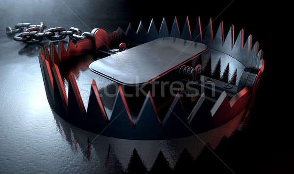 животного ловушка драматический открытых металл прилагается Сток-фото © albund