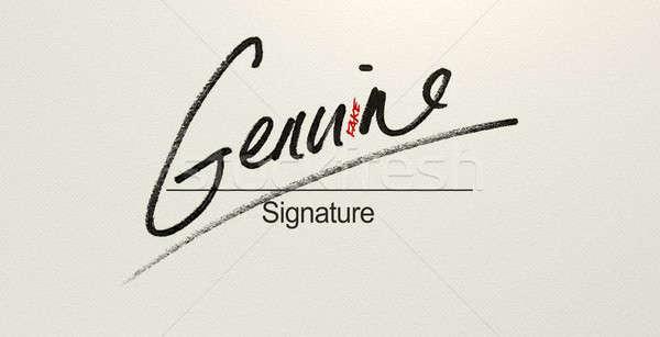 Genuine Fake Signature Stock photo © albund