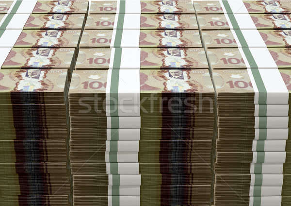 Canadian Dollar Notes Bundles Stack Stock photo © albund
