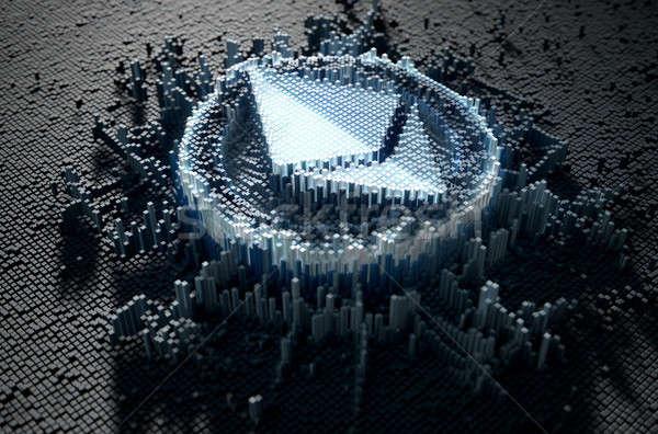 ピクセル 微視的 クローズアップ 小 キューブ ランダム ストックフォト © albund