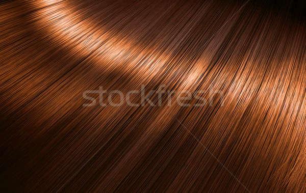 Brillante jengibre pelo primer plano vista Foto stock © albund