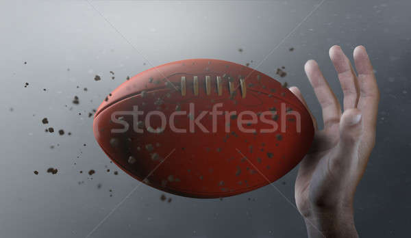 Aussie Rules Ball In Flight Stock photo © albund
