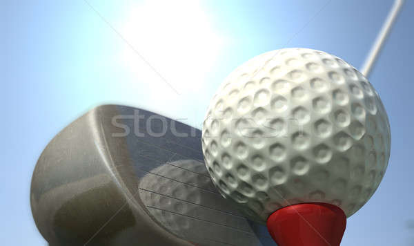 Golf Tee Off Stock photo © albund