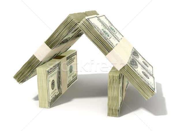 Dollar Notes House Perspective Stock photo © albund