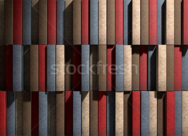 Algemeen leder boek textuur boeken Stockfoto © albund