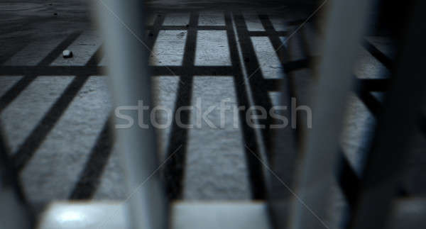 Jail Cell Bars Cast Shadows Stock photo © albund
