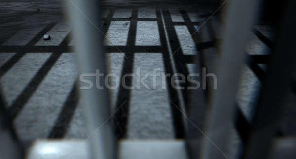 Cella di prigione bar ombre primo piano view carcere Foto d'archivio © albund