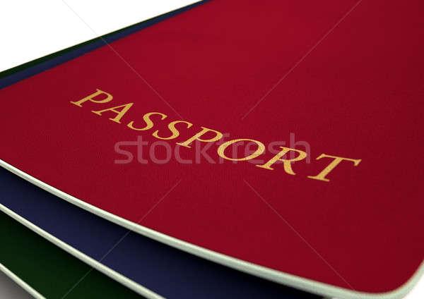 Pasaporte aislado blanco estudio Foto stock © albund