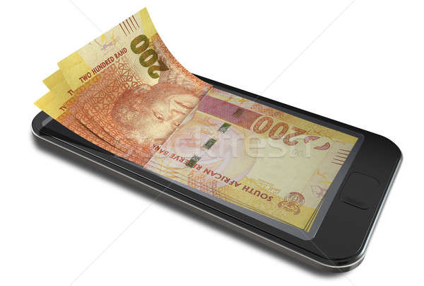 Smartphone Payments With Rands Stock photo © albund