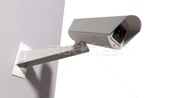 Inwigilacja kamery biały bezprzewodowej światła Zdjęcia stock © albund