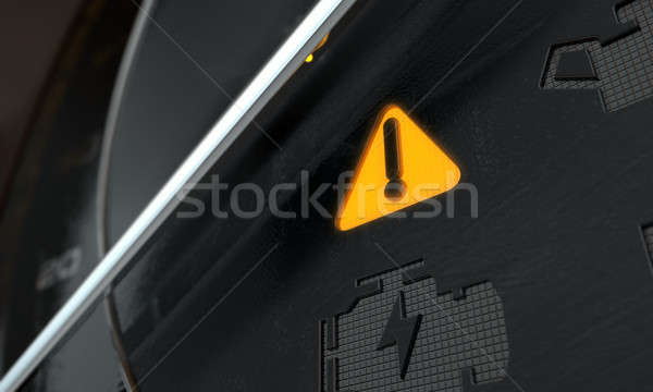 общий предупреждение приборная панель свет 3d визуализации Extreme Сток-фото © albund