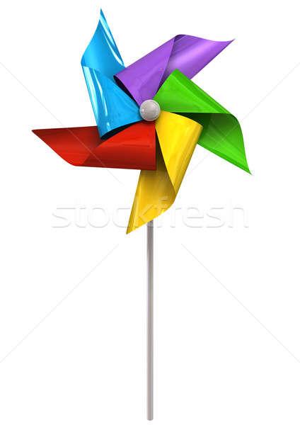 Colorful Pinwheel Front Stock photo © albund