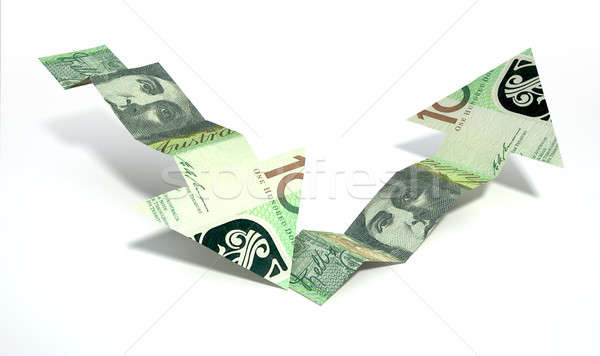 Australian Dollar Bank Note Recovery Trend Arrows Stock photo © albund