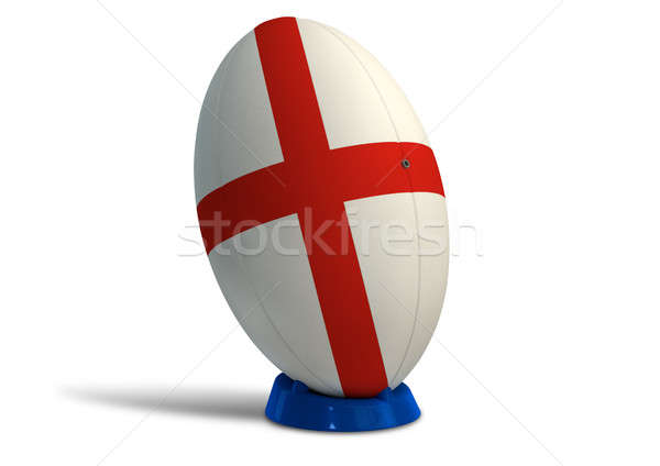 England Rugby Ball On A Kicking Tee Stock photo © albund