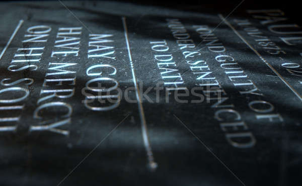 Gravestone Of Convicted Murderer Stock photo © albund