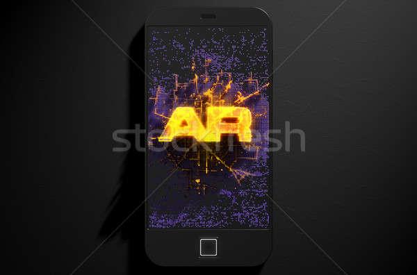 Stockfoto: Realiteit · 3d · render · moderne · algemeen · scherm