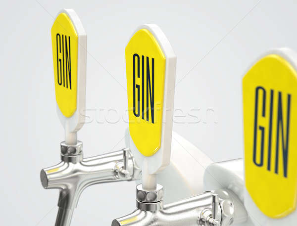 Gin Draught Spigot Row Stock photo © albund