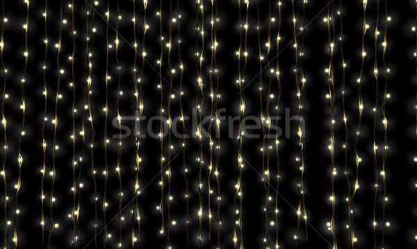 Bajki świetle kaskada kurtyny światła Zdjęcia stock © albund