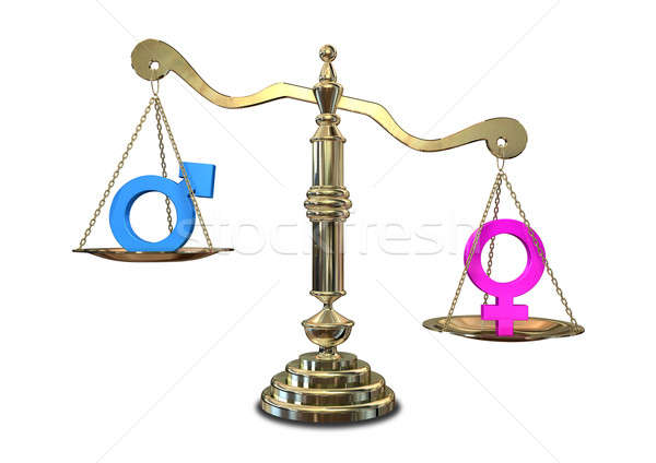 Gender Inequality Balancing Scale Stock photo © albund