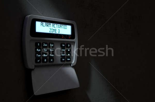 Alarm Panel Activated Stock photo © albund