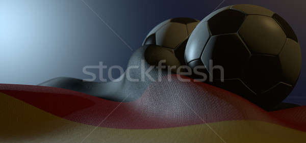 German Flag And Soccer Ball Stock photo © albund