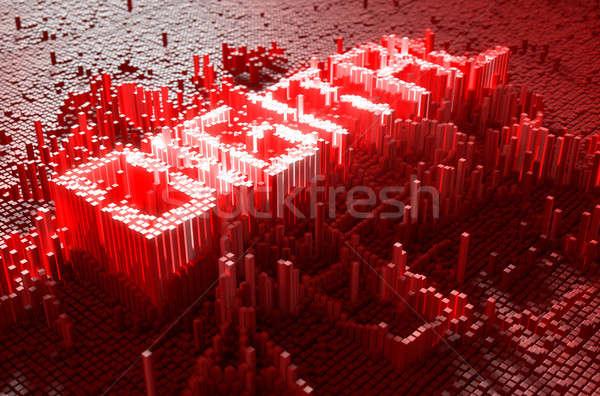 ピクセル デジタル 3dのレンダリング 微視的 クローズアップ 小 ストックフォト © albund