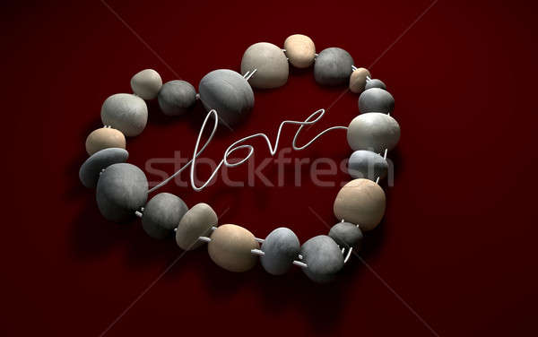 Love Rocks Your Heart with passion Stock photo © albund