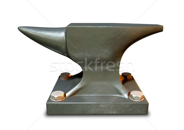 Steel Anvil Side Stock photo © albund