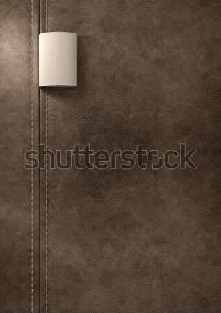 Broad Clothing Label In Brown Leather Stock photo © albund