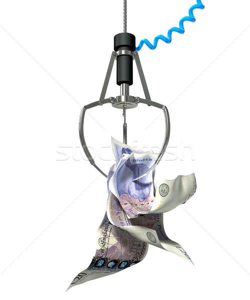 Brits pond robotachtige klauw type spel Stockfoto © albund