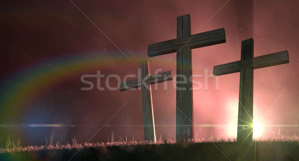 The Early Morning Crucifixion Stock photo © albund